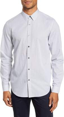 Theory Irving Slim Fit Print Button-Up Shirt