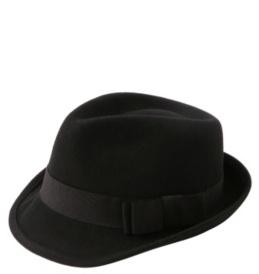 Black Double-Bow Wool Fedora