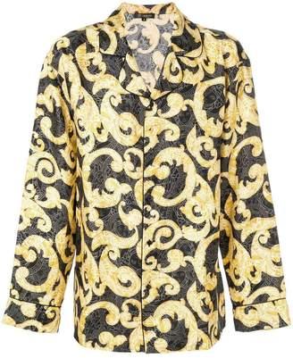 Versace Barocco print pajama shirt