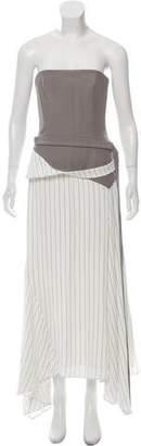Adeam Strapless Maxi Dress