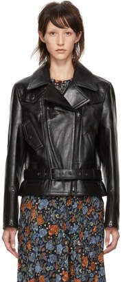 Acne Studios Black Leather Boxy Jacket