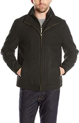 London Fog Men's Wool Blend Stand Collar Jacket Bib