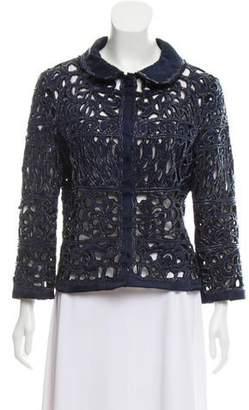 Alberta Ferretti Cropped Embellished Jacket