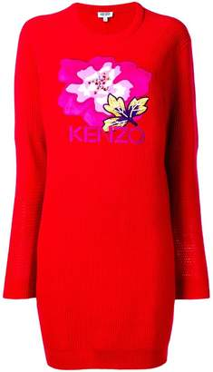 Kenzo embroidered flower sweater dress