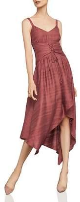 BCBGMAXAZRIA Corset Detail Asymmetric Dress