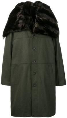 Y/Project Y / Project oversized fur collar coat