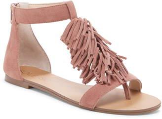 58bab244ed0 Sole Society  Koa  Fringe T-Strap Flat Sandal