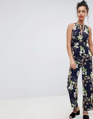 Yumi Floral Halter Neck Jumpsuit