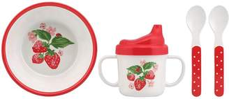 Cath Kidston Melamine Nursery feeding set - Wild Strawberry