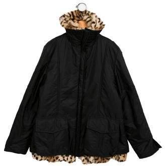 Ermanno Scervino Girls' Fur-Trimmed Wool Coat