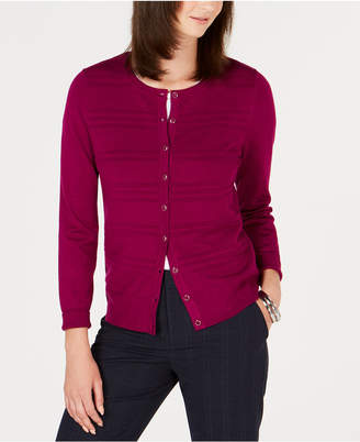 Charter Club Petite Textured Cardigan Sweater