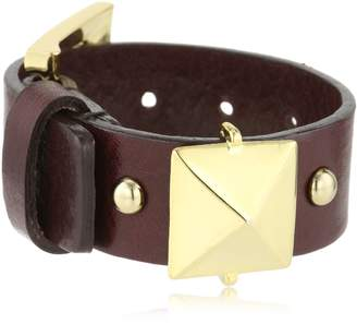 Fallon Single Stud Extra Large Leather Cuff Bracelet