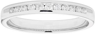 Lovemark 10k White Gold 1/4 Carat T.W. Diamond Anniversary Ring