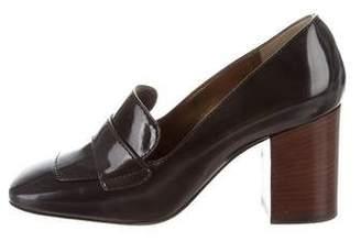 Dolce & Gabbana Patent Leather Square-Toe Pumps