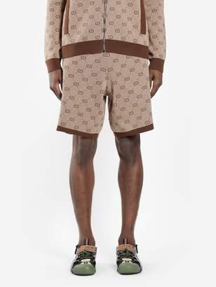 190b9cf4183 Gucci MEN S CAMEL GG JACQUARD KNIT SHORTS