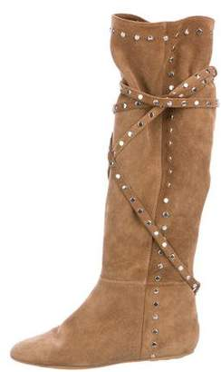 Jimmy Choo Suede Stud-Embellished Boots