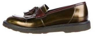 Paul Smith Metallic Kiltie Loafers $175 thestylecure.com
