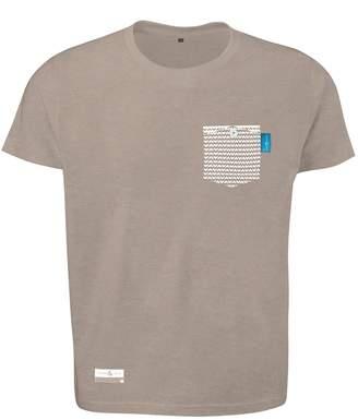 ANCHOR & CREW - Tan Brown Marker Print Organic Cotton T-Shirt