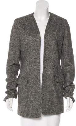 Alexander Wang Tweed Open-Front Blazer
