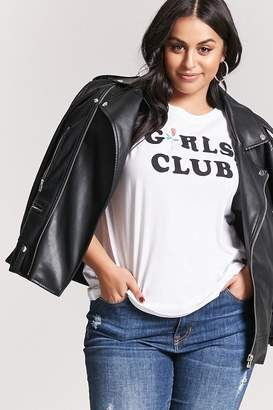 Forever 21 Plus Size Girls Club Graphic Tee