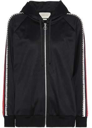 Gucci Crystal-embellished hoodie