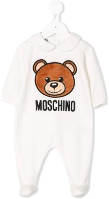 Moschino Kids bear appliquéd pyjamas