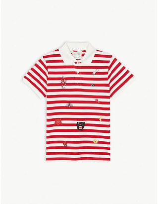 7057afcb7 Gucci Branded embroidery striped cotton polo shirt 4-12 years