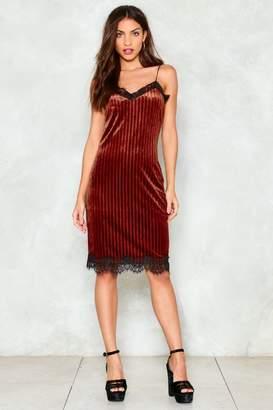 Nasty Gal Another Slip Up Velvet Midi Dress