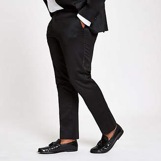 River Island Big and Tall black skinny suit trousers