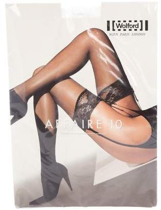 Wolford Affaire 10 Lace-Trimmed Tights w/ Tags