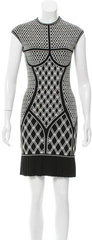 Alexander McQueenAlexander McQueen Jacquard Mini Dress