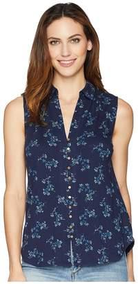 Lucky Brand Floral Sleeveless Button Up Top Women's Sleeveless