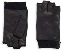 John Varvatos Leather Zip Gloves