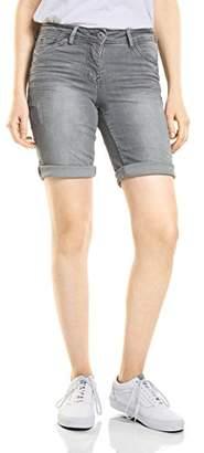Cecil Women's 371358 Scarlett Grey Bermuda Shorts,33W