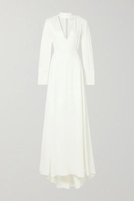 Les Héroïnes The Ada Smocked Satin Gown - Ivory