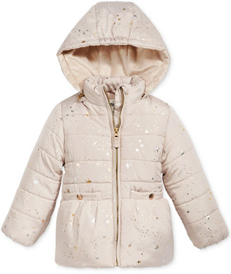 Oshkosh B'Gosh Star-Print Puffer Jacket with Faux-Fur, Toddler Girls (2T-5T) $100 thestylecure.com