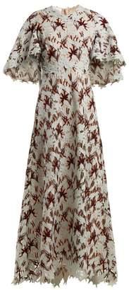 Giambattista Valli - Floral Macramé Lace Gown - Womens - Green Multi