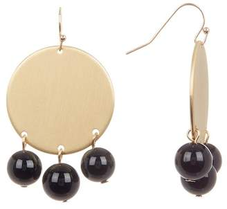 14th & Union Stone Bead Drop Disc Earrings