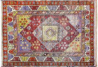 """One Kings Lane Vintage Antique Turkish Anatolian Rug - 5'4"""" x 7' - Eli Peer Oriental Rugs"""