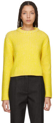 Protagonist Yellow and White Melange Sweater