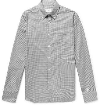 Dunhill Button-Down Collar Gingham Cotton Shirt