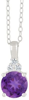 Premier 1.50cttw Amethyst & Diamond Pendant, 14 K