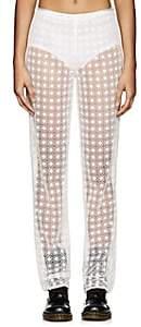 Marc Jacobs Women's Floral Cotton-Blend Crochet Pants - Ivory