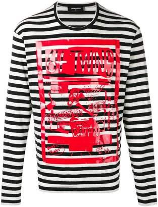 DSQUARED2 '64 twins' striped sweatshirt