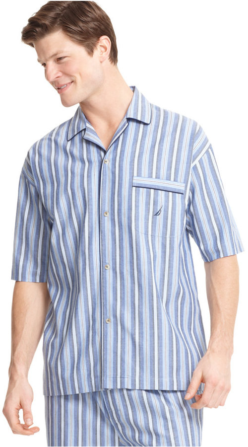 Nautica Men's Sleepwear, Anchor Pajama Shirt