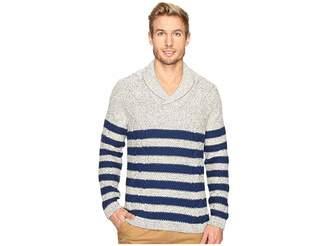 Nautica 3 Gauge Shawl Pullover Men's Sweater