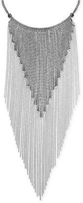 """Thalia Sodi Silver-Tone Crystal Fringe 16"""" Statement Necklace"""