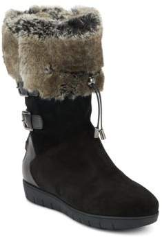 Westley Faux Fur-Lined Suede & Leather Boots $575 thestylecure.com