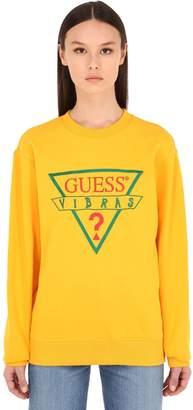 7f1617751c67b GUESS X J Balvin Vibras Collection Logo Printed Crewneck Sweater