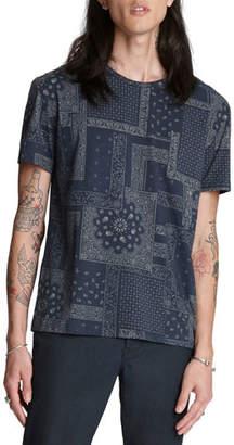 John Varvatos Men's Bandana-Print Easy-Fit T-Shirt
